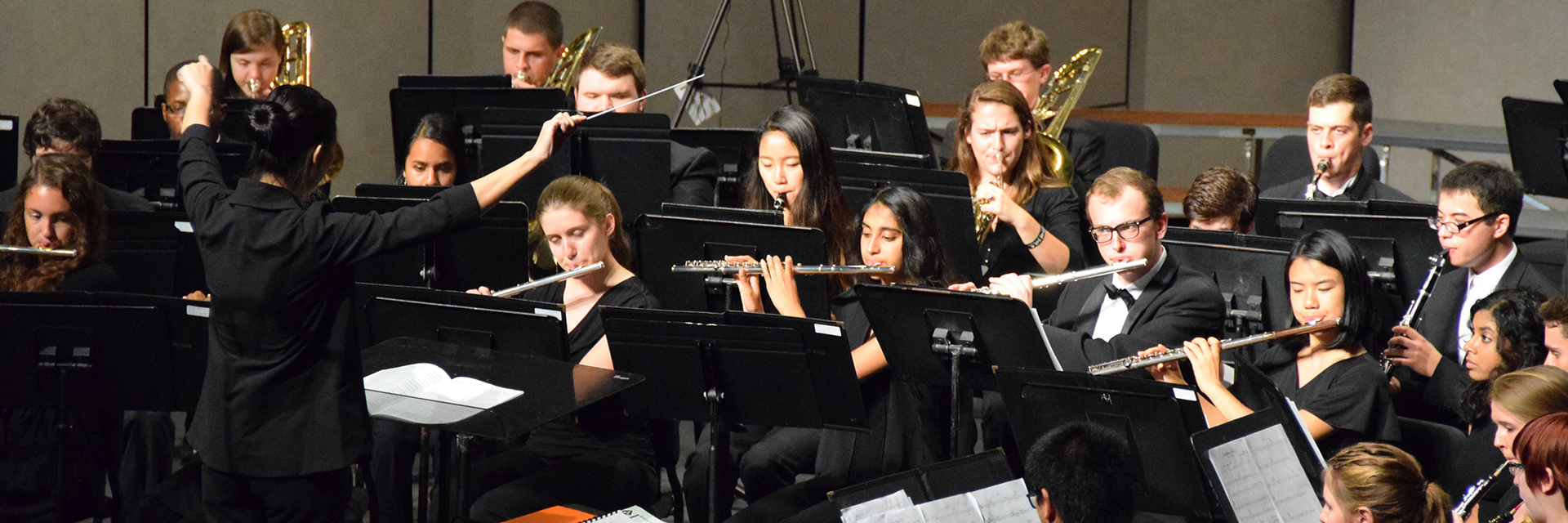 The Concert Band performing at Georgia Tech's Ferst Center for the Arts.