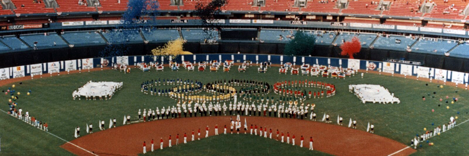 The Georgia Tech Marching Band taking part in the 1996 Olympic Festivities.